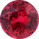 Lively Round Cut Loose Ruby Gem, Vibrant Red Color, 5.89 mm, 1.14 carats