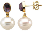 South Sea Cultured Pearl & Amethyst Earrings
