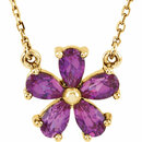 14KT Yellow Gold Chatham Created Pink Sapphire 16
