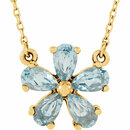 14KT Yellow Gold Sky Blue Topaz 16