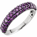14KT White Gold Amethyst Ring