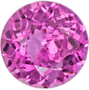 GIA Certified No Heat Rich Pink Sapphire Loose Gemstone in Round Cut, Fine Pink Color in 5.6 mm, 0.79 carats