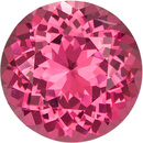 Rich Pink Spinel Loose Round Cut Gem in Hot Pink Color, 6.1 mm, 0.91 carats