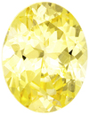 Bright & Lively No Heat Yellow Sapphire Oval Cut Loose Gem in Medium Yellow Color, 7.3 x 5.6 mm, 1.07 carats - GIA Certified - SOLD