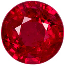 Super Rich Red Ruby Loose Gemstone in Round Shape, Great Looking Red Fire in 6.8 mm, 1.52 carats