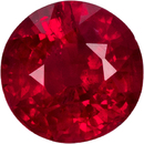 Excellent Value Ruby Loose Gem in Round Cut, Pure Rich Red Color in 6.3 mm, 1.32 carats