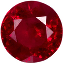 Fine Quality Ruby Loose Gem in Round Cut, Vivid Open Red, 4.3 mm, 0.42 carats