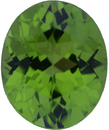 Exceptional Loose Peridot Gem in Oval Cut, Vibrant Yellowish Green, 11.02 x 9.09 mm, 3.91 carats