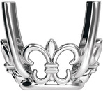 Stylish 14kt Gold 4-Prong Fleur-de-lis Setting for Earring Assembly for Antique Square Gemstone Sized 6.00 mm to 7.50 mm