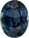 Rare No Treatment GIA Sapphire Faceted Gem in Oval Cut, Steely Blue Green, 10.5 x 8.13 x 5.56 mm, 3.98 carats - With GIA Certificate - SOLD
