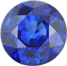 Large Round Cut Blue Sapphire Loose Gemstone in Fine Blue Color in 8.81 x 8.84 mm, 3.05 Carats - With CDC Certificate