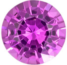 No Heat GIA Pink Sapphire Loose Gem in Round Cut, Rich Pure Pink Color in 6.5 x 6.4 mm, 1.08 carats - GIA Certified