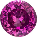 Delicious Deep Pink Gem Sapphire Round Cut, Deep Pink Color in 6.2 mm, 1.24 carats