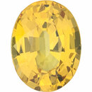 YELLOW SAPPHIRE Oval Cut Gems  - Calibrated
