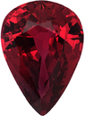 Great Deal on Loose Ruby Gem in Pear Shape, Red Color, 6.77 x 4.88 mm, 0.76 carats