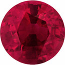 Nice Round Cut Loose Ruby Gem, Vivid  Red Color, 5.48 mm, 0.79 carats
