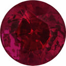 Unique Loose Ruby Gem in Round Cut, Deep  Red Color, 5.3 mm, 0.86 carats