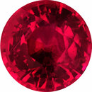 Pretty Round Cut Loose Ruby Gem, Vivid  Red Color, 5.65 mm, 0.91 carats
