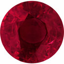 Beautiful Loose Ruby Gem in Round Cut, Vivid  Red Color, 5.78 mm, 0.92 carats