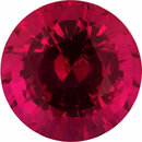 Attractive Round Cut Loose Ruby Gem, Deep  Red Color, 5.54 mm, 0.93 carats