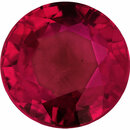 Stunning Loose Ruby Gem in Round Cut, Vivid  Red Color, 5.55 mm, 0.98 carats