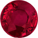 Bright & Lively Loose Ruby Gem in Round Cut, Deep  Red Color, 5.38 mm, 1.01 carats