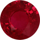 Pretty Loose Ruby Gem in Round Cut, Deep  Red Color, 5.9 mm, 1 carats