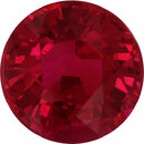Beautiful Round Cut Loose Ruby Gem, Deep  Red Color, 5.88 mm, 1.05 carats