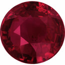 Good Looking Loose Ruby Gem in Round Cut, Vivid  Red Color, 5.88 mm, 1.04 carats