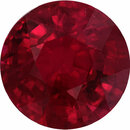 Top Quality Round Cut Loose Ruby Gem, Deep  Red Color, 6.14 mm, 1.18 carats