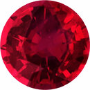 Unique Loose Ruby Gem in Round Cut,  Red Color, 6.05 mm, 1.02 carats