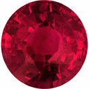 Super Pretty Loose Ruby Gem in Round Cut, Deep  Red Color, 6.49 mm, 1.52 carats