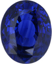 Good Looking Loose Blue Sapphire Gem in Oval Cut, Deep Violetish Blue, 11.63 x 9.39 mm, 5.57 carats