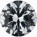Great Deal on Loose White Sapphire Gem in Round Cut, Near Colorless Very Slight Hint Of Blue, 6.51 mm, 1.04 carats