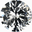 Top Quality Round Cut Loose White Sapphire Gem, Near Colorless, 6.53 mm, 1.06 carats