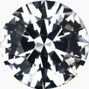 Unique Loose White Sapphire Gem in Round Cut, Near Colorless, Very Slight Hint Of Blue, 6.52 mm, 1.11 carats