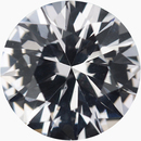 Hard to Find Round Cut Loose White Sapphire Gem, Near Colorless Very Slight Hint Of Purple, 6.53 mm, 1.17 carats