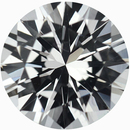 Dazzling Round Cut Loose White Sapphire Gem, Near Colorless, 6.04 mm, 0.92 carats