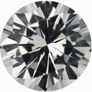 Fantastic Loose White Sapphire Gem in Round Cut, Near Colorless, 5.99 mm, 0.92 carats