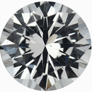 Fabulous Round Cut Loose White Sapphire Gem, Near Colorless, 5.96 mm, 0.92 carats