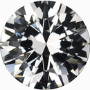 Eye-Catching Loose White Sapphire Gem in Round Cut, Near Colorless, Very Slight Hint Of Pink, 6.54 mm, 1.13 carats