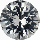 Unbelievable Round Cut Loose White Sapphire Gem, Near Colorless, 6.03 mm, 0.93 carats