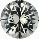 Excellent Loose White Sapphire Gem in Round Cut, Near Colorless, Very Slight Hint Of Yellow, 5.99 mm, 0.93 carats