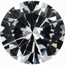 Exceptional Round Cut Loose White Sapphire Gem, Near Colorless, 6.12 mm, 0.93 carats