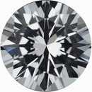 Pretty Loose White Sapphire Gem in Round Cut, Near Colorless, Very Slight Hint Of Blue, 6.06 mm, 0.95 carats