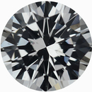 Beautiful Round Cut Loose White Sapphire Gem, Near Colorless, 6.02 mm, 0.95 carats