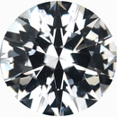 Low Price on Loose White Sapphire Gem in Round Cut, Near Colorless, Very Slight Hint Of Blue, 6.63 mm, 1.2 carats