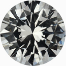 Attractive Round Cut Loose White Sapphire Gem, Near Colorless, Very Slight Hint Of Green, 6.21 mm, 1 carats