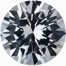 Good Looking Loose White Sapphire Gem in Round Cut, Near Colorless, Very Slight Hint Of Blue, 6.26 mm, 1.05 carats
