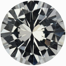 Nice Round Cut Loose White Sapphire Gem, Near Colorless, 6.3 mm, 1.07 carats